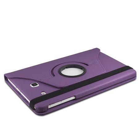 Samsung Galaxy Tab A 2016 10.1 360° Flip Etui Leder Smart Case Tasche Hülle LILA Violett – Bild 3