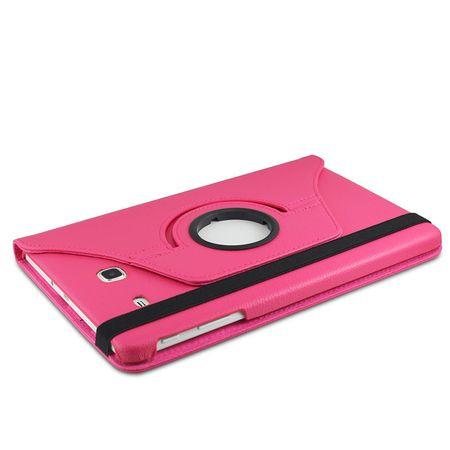 Samsung Galaxy Tab A 2016 10.1 360° Flip Etui Leder Smart Case Tasche Hülle PINK Rosa – Bild 3