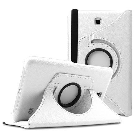 Samsung Galaxy Tab A 2016 10.1 360° Flip Etui Leder Smart Case Tasche Hülle WEISS – Bild 1
