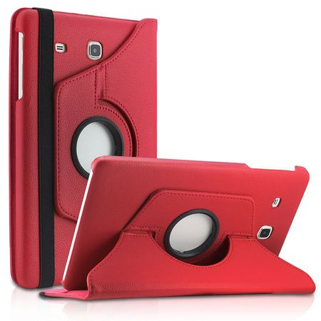 Samsung Galaxy Tab A 2016 10.1 360° Flip Etui Leder Smart Case Tasche Hülle ROT – Bild 1