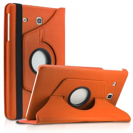 Samsung Galaxy Tab A 2016 10.1 360° Flip Etui Leder Smart Case Tasche Hülle ORANGE – Bild 1