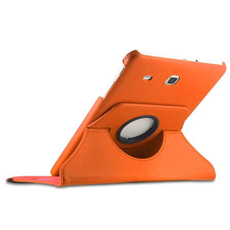Samsung Galaxy Tab A 2016 10.1 360° Flip Etui Leder Smart Case Tasche Hülle ORANGE – Bild 2