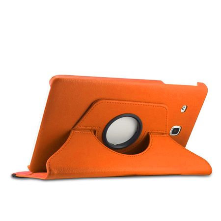 Samsung Galaxy Tab A 2016 10.1 360° Flip Etui Leder Smart Case Tasche Hülle ORANGE – Bild 4