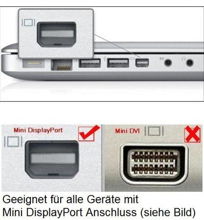 mini Displayport DP zu HDMI, DVI, und VGA 3in1 Adapter SCHWARZ – Bild 6