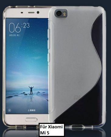 Xiaomi Mi5 / Mi5 Pro S-Line Gummi TPU Silikon Case TRANSPARENT Clear