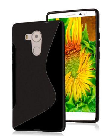 Huawei Mate 8 S-Line Gummi TPU Silikon Case SCHWARZ – Bild 1
