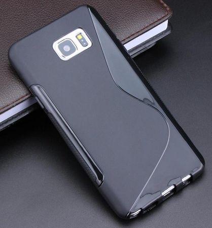 Samsung Galaxy Note 5 S-Line Gummi TPU Silikon Case SCHWARZ – Bild 2