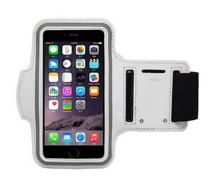 iPhone 6S / 6 Jogging Armband Sport Band WEISS – Bild 2