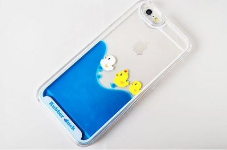 iPhone 7 Plus Enten Duck Liquid Hard Case Clear Hülle Ducks Enten Küken – Bild 3