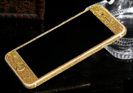 iPhone 6S Plus / 6 Plus Full-Body Glitzer Sticker Skin in GOLD – Bild 2