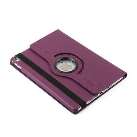 iPad 9.7 2017 360° Flip Etui Leder Smart Case Tasche Hülle LILA Violett – Bild 3