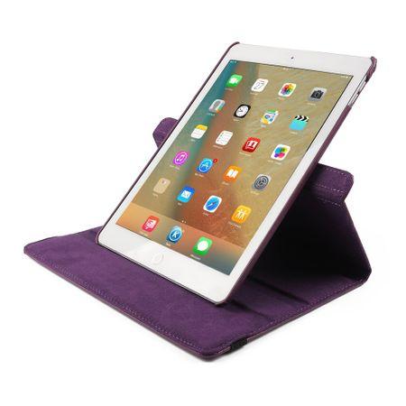 iPad 9.7 2017 360° Flip Etui Leder Smart Case Tasche Hülle LILA Violett – Bild 6