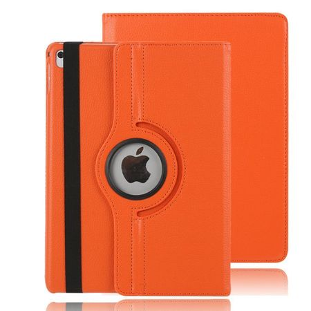 iPad 9.7 2017 360° Flip Etui Leder Smart Case Tasche Hülle ORANGE – Bild 2