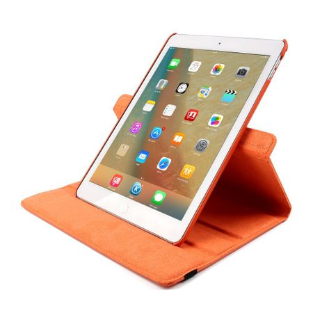 iPad 9.7 2017 360° Flip Etui Leder Smart Case Tasche Hülle ORANGE – Bild 5