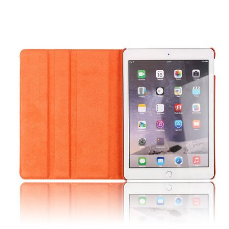 iPad 9.7 2017 360° Flip Etui Leder Smart Case Tasche Hülle ORANGE – Bild 6