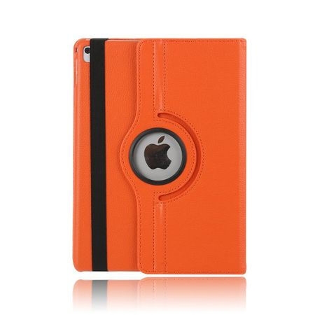 iPad 9.7 2017 360° Flip Etui Leder Smart Case Tasche Hülle ORANGE – Bild 7