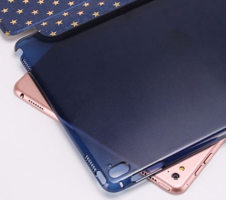 iPad 9.7 2017 Luxus Stars Smart Sterne Etui Tasche Hülle BLAU – Bild 5