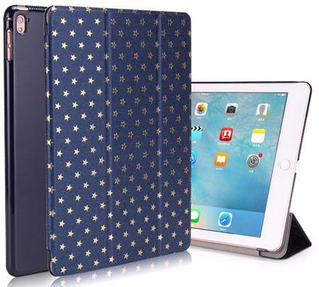 iPad 9.7 2017 Luxus Stars Smart Sterne Etui Tasche Hülle BLAU – Bild 1