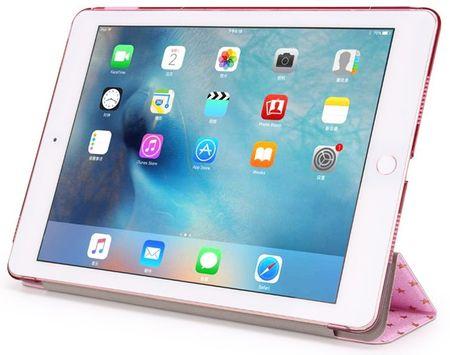iPad 9.7 2017 Luxus Stars Smart Sterne Etui Tasche Hülle ROSA Pink – Bild 2