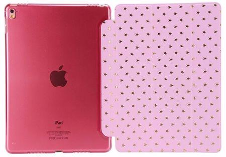 iPad 9.7 2017 Luxus Stars Smart Sterne Etui Tasche Hülle ROSA Pink – Bild 5