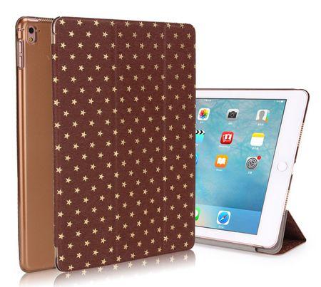 iPad 9.7 2017 Luxus Stars Smart Sterne Etui Tasche Hülle BRAUN – Bild 1