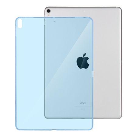iPad 9.7 2017 (5. Generation) Gummi TPU Silikon Crystal Clear Case Hülle Klar BLAU – Bild 2