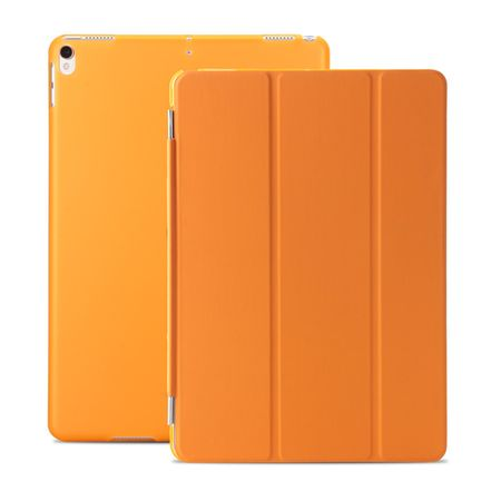 iPad 9.7 2017 Smart Case + Back Cover VORDER- & HINTERSEITE Hülle Etui Tasche ORANGE – Bild 1