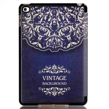 iPad 9.7 2017 Smart Etui Leder Hülle Case Tasche VINTAGE Blau – Bild 4