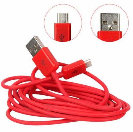 microUSB Daten- und Ladekabel Micro USB 1m ROT – Bild 2