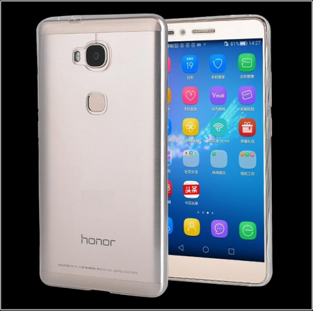 Huawei Honor 5X Gummi TPU Silikon Clear Case TRANSPARENT Klar – Bild 1