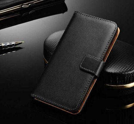 Huawei P9 Leder Case Luxus Etui mit Kartenfach SCHWARZ – Bild 1