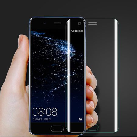 Huawei P10 Lite Abgerundete PET Schutzfolie Curved ULTRA CLEAR Display Folie Klar – Bild 2