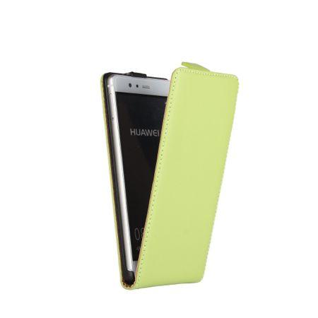 Huawei P10 Lite Leder Flip Case Cover Etui Tasche Vertikal Hülle GRÜN – Bild 2