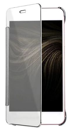Huawei P10 Lite Clear Window View Case Cover Spiegel Mirror Hülle SILBER – Bild 5