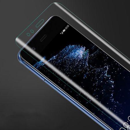 Huawei P8 Lite 2017 Abgerundete PET Schutzfolie Curved ULTRA CLEAR Display Folie Klar – Bild 3