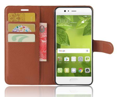 Huawei P8 Lite 2017 Flip Etui Leder Case Tasche Hülle mit Kartenfach BRAUN – Bild 3