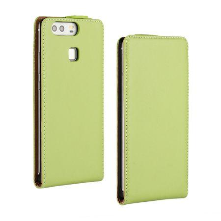 Huawei P8 Lite 2017 Leder Flip Case Cover Etui Tasche Vertikal Hülle GRÜN – Bild 1