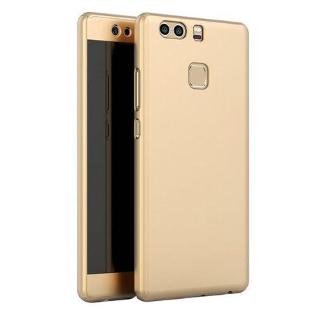 Huawei P8 Lite 2017 Komplett Schutz Case + Panzerglas Full Protection Cover Hülle GOLD – Bild 1