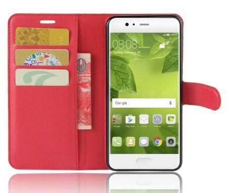 Huawei Honor 9 Flip Etui Leder Case Tasche Hülle mit Kartenfach ROT – Bild 3