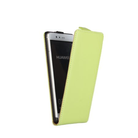 Huawei Honor 9 Leder Flip Case Cover Etui Tasche Vertikal Hülle GRÜN – Bild 2