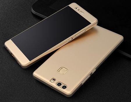 Huawei Honor 9 Komplett Schutz Case + Panzerglas Full Protection Cover Hülle GOLD – Bild 2