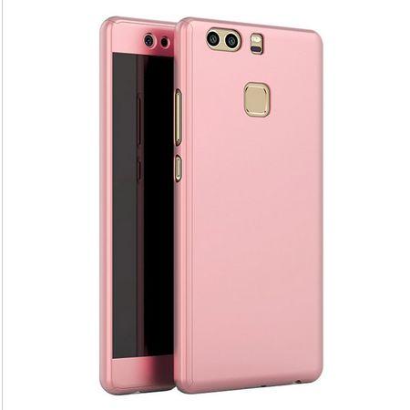 Huawei Honor 9 Komplett Schutz Case + Panzerglas Full Protection Cover Hülle ROSÉGOLD – Bild 1