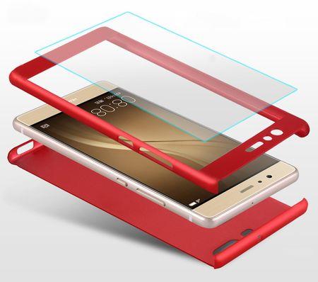 Huawei Honor 9 Komplett Schutz Case + Panzerglas Full Protection Cover Hülle ROSÉGOLD – Bild 3