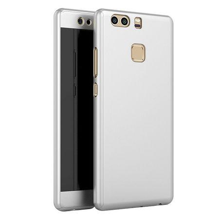 Huawei Honor 9 Komplett Schutz Case + Panzerglas Full Protection Cover Hülle SILBER – Bild 1