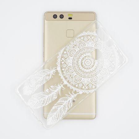 Huawei Honor 9 Traumfänger Dreamcatcher Gummi TPU Silikon Case Hülle WEISS – Bild 2