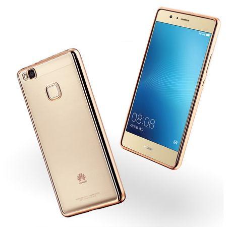Huawei Honor 9 Metallic Gummi TPU Silikon Case Hülle Schutzhülle Cover Klar GOLD – Bild 1