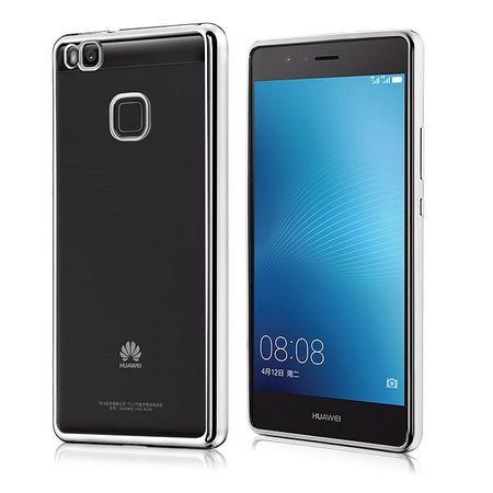 Huawei Honor 9 Metallic Gummi TPU Silikon Case Hülle Schutzhülle Cover Klar SILBER