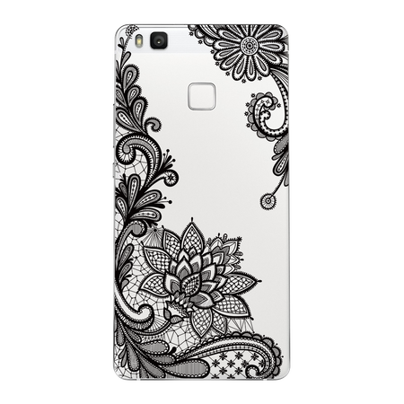 Huawei Honor 9 Lace Rüschchen Mandala Henna Hülle Gummi TPU Silikon Case Cover