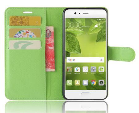 OnePlus 5 Flip Etui Leder Case Tasche Hülle mit Kartenfach GRÜN – Bild 3