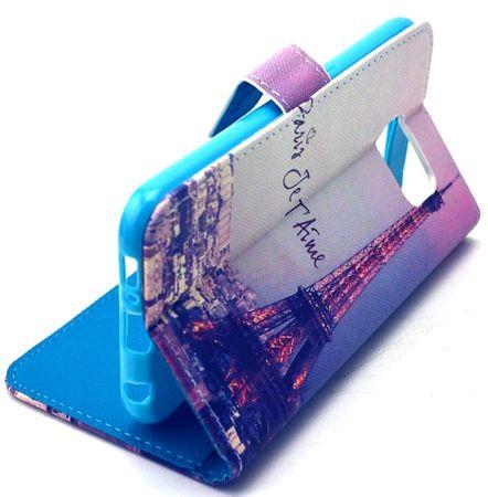 OnePlus 5 Eiffelturm Paris Leder Etui Case Tasche Hülle Case PINK / VIOLETT – Bild 3